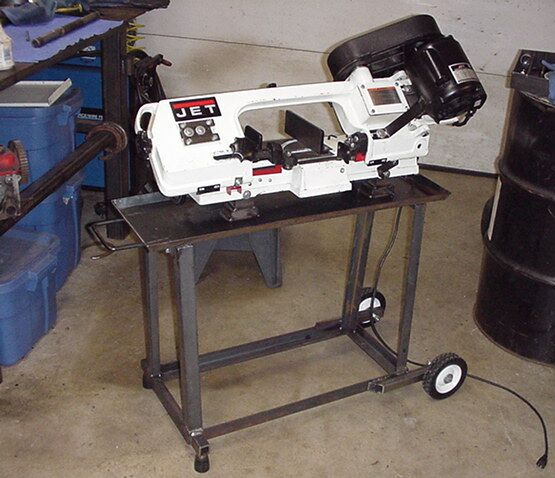 harbor freight bandsaw stand. i didn\u0027t like the stock stand either, so fabbed up a better one as well. harbor freight bandsaw f